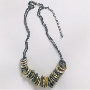 Jewelry - Mixed Metal 18 Inch Ring Necklace